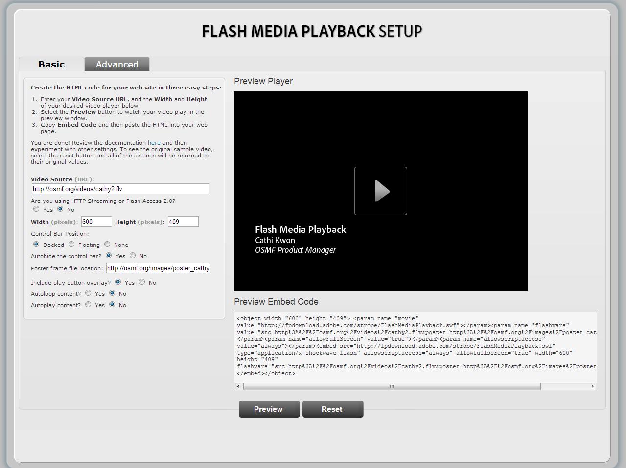 Flash video player generator | www mydeo com